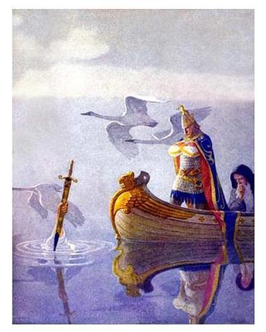 Ο Αρθούρος λαμβάνει το εξκαλιμπουρ απο την Κυρά της Λίμνης