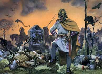 Ρωμαιο-Βρετανοί μετά απο την μάχη εναντίων των Σαξόνων