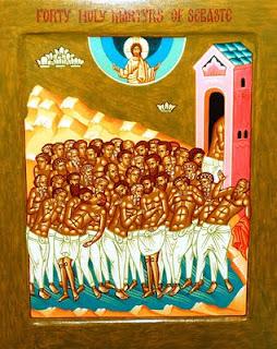 Το μαρτύριο των αγίων σαράντα στην παγωμένη λίμνη της Σεβάστειας