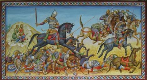 Πινακας του αγιογραφου Δημήτριου Σκουρτέλη και μέλους της ΑΚΑΔΗΜΙΑΣ ΙΣΤΟΡΙΚΩΝ ΕΥΡΩΠΑΪΚΩΝ ΠΟΛΕΜΙΚΩΝ ΤΕΧΝΩΝ