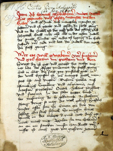 Το χειρόγραφο απο το Codex Speyer (MS M.I.29) 1491που Συμπέρ περιγράφει από ποιούς δασκάλους οπλομαχίας έμαθε τη οπλομαχητική τέχνη. Ανάμεσα σε αυτούς ήταν και Έλληνες (Ρωμιοί / Βυζαντινοί ) Δάσκαλοι των Όπλων.